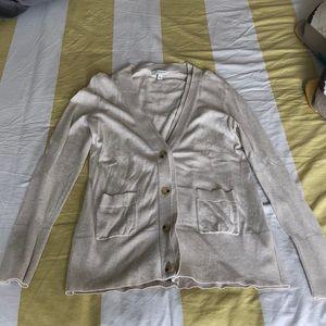 Cream Banana Republic cardigan/sweater